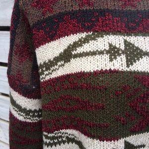 Vintage Sweaters - 🌿Vintage 80s oversized grandpa grunge sweater